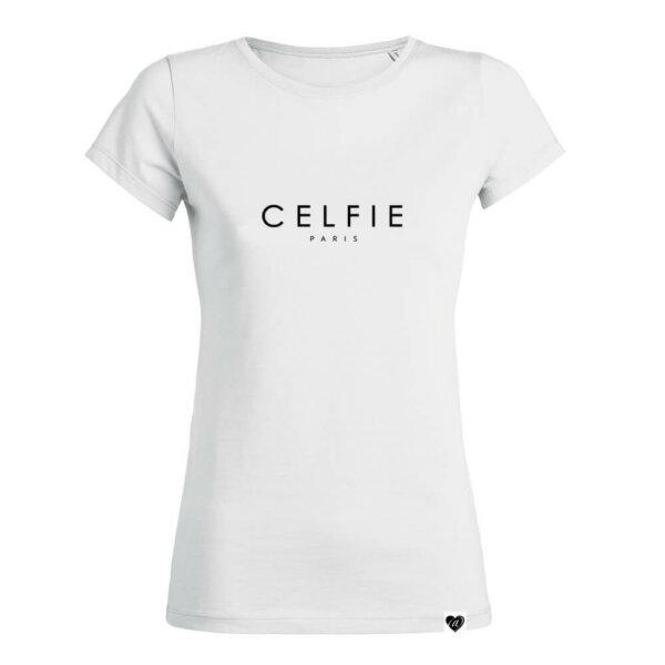 CELFIE Paris Shirt weiß VOGUE.AT.HEART Statement Print Mode