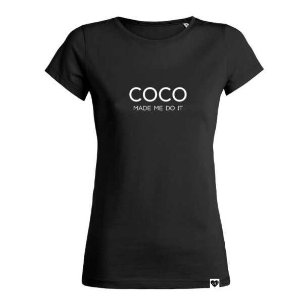 Coco made me do it Shirt schwarz VOGUE.AT.HEART