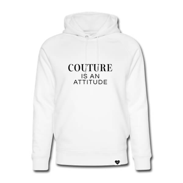 COUTURE IS AN ATTITUDE Hoodie weiß VOGUE.AT.HEART Print Fashion