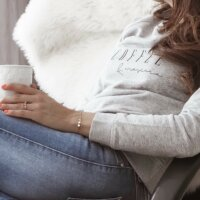 Coffee and Mascara Sweater VOGUE.AT.HEART Statement Print Mode