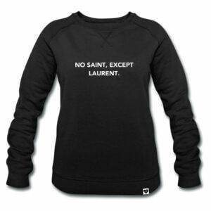No Saint Except Laurent Sweater schwarz VOGUE.AT.HEART Print