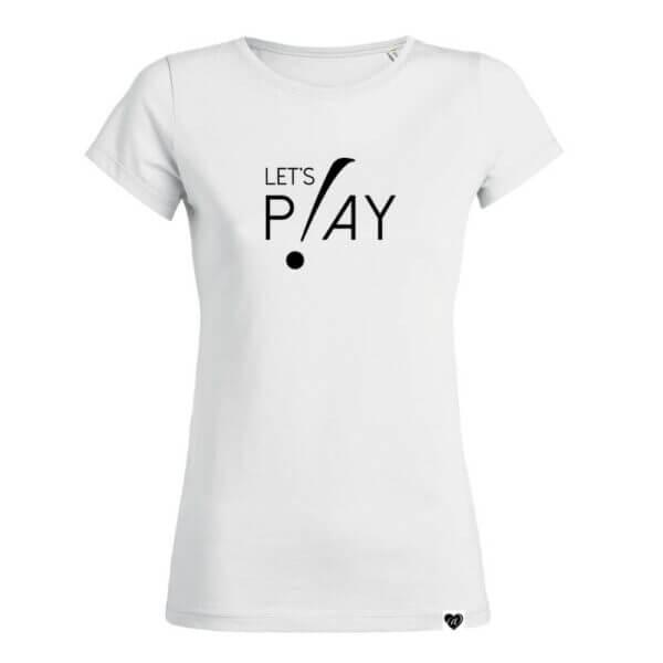 LET'S PLAY Fußball Print Shirt weiß EM WM