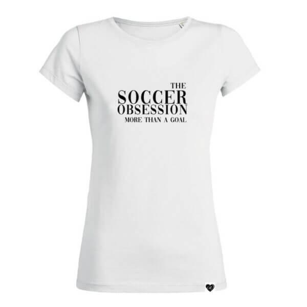 THE SOCCER OBSESSION Fußball Print Shirt weiß EM WM