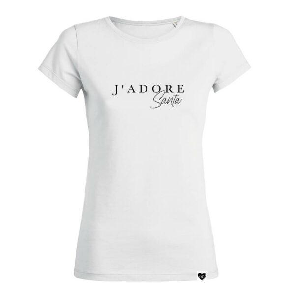 J'ADORE SANTA Shirt weiß Christmas Collection VOGUE.AT.HEART