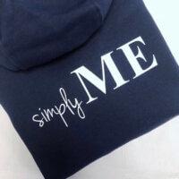 Simply Me Hoodie dunkelblau navy VOGUE.AT.HEART Print Fashion